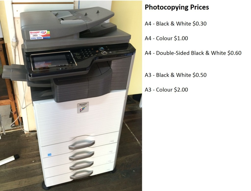 Photocopying Services w Prices